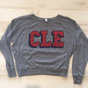 CLE Clothing Co. crop light weight sweater.